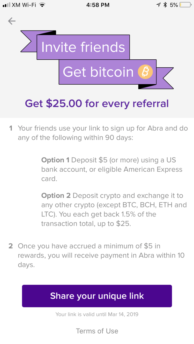 ABRA: The Ultimate Crypto Wallet that is AMEX Friendly